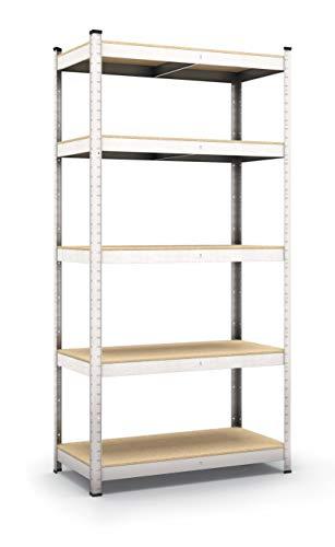 Lagerregal verzinkt belastbar bis 350 kg - Maße: 170 x 80 x 30 cm Regal Steckregal Kellerregal Werkstattregal Schwerlastregal