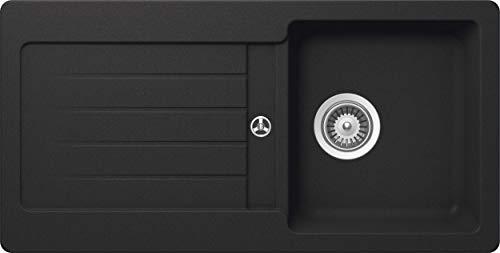 Schock Küchenspüle 86 x 43,5 cm Typos D-100S Onyx - CRISTALITE Granitspüle ab 45 cm Unterschrank-Breite