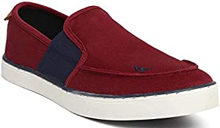 Wildcraf Men's Red Black Dela Slip-On Sneakers WC51551RED_Black