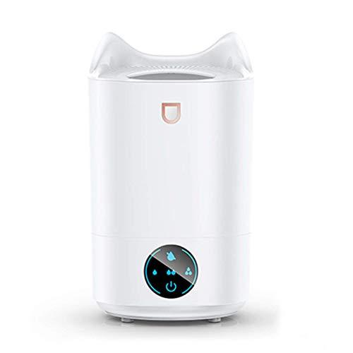 AYDQC Humidificador Smart Touch 4L de Gran Capacidad USB Home Office Silencio Dormitorio con Aire de humidificación sin Agua de Apagado automático, Blanco fengong (Color : White)