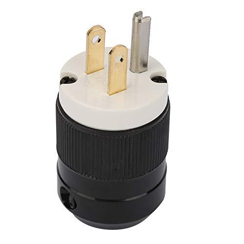 Odorkle USA Enchufe de CA de 3 Polos Toma de Corriente Adaptador de Corriente Conector de Repuesto Industrial de Alta Calidad(15A 125V)