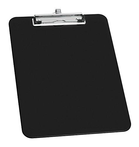 Wedo 0576601 Porte-bloc A4 en plastique avec porte-stylo Noir