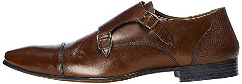 find. Zapatos estilo Monje de Doble Hebilla para Hombre, Marrón (Brown), 42 EU