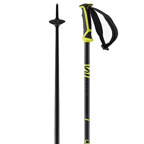 Salomon Bâtons de Ski, Unisexe, 130 cm, Aluminium, X 08, Noir/jaune Fluo, L40827200