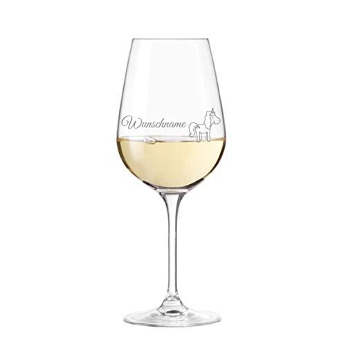 Leonardo Weinglas mit Einhorn und Name personalisiert - persönliche Gravur, Geschenkidee, Geburtstag, Weihnachten, beste Freundin