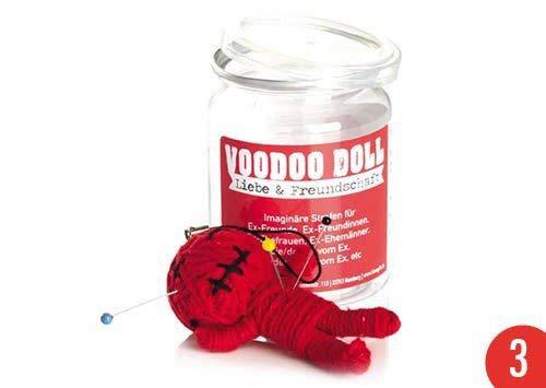 3er-Pack: Voodoo Doll in Dose | lustige Mini-Voodoo-Puppe to go | LIEBE & FREUNDSCHAFT | imaginäre Strafen für Ex-Freunde, Ex-Freundinnen, Ex-Ehefrauen, Ex-Ehemänner, der/die Alte/Neue Ex vom Ex