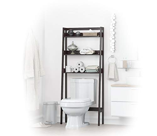 UTEX 3-Shelf Bathroom Organizer Over The Toilet, Bathroom Spacesaver (White)