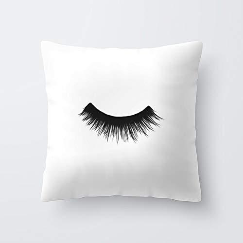 MARKOO Christmas Pillowcase,Marble Eye Lash Decorative Throw Pillow Cushion Cover Home Decor Wedding Christmas Decoration Geometric Pink Pillowcase 40594,40594-010
