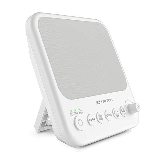 Sztrokia Macchina per rumore bianco, macchina per terapia del sonno naturale per bebè, caricatore di uscita USB (bianco)