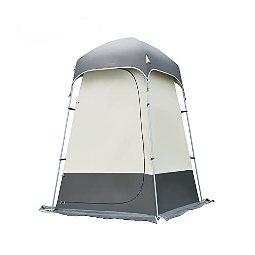 KLFD Carpas para Camping Individuales Carpa para Ducha Fuerte Al Aire Libre Inodoro/Vestidor Carpa para Vestuario/WC Móvil para Exteriores Carpa para Sombrilla,Gris