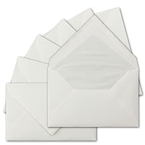 Zerkall-Bütten Sobres tipo C6 (11,4 x 16,2 cm), de auténtico papel verjurado,...