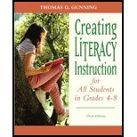 Creating Literacy Instruction for All Students in Grades 4 to 8 (3rd, 12) by Gunning, Thomas G [Paperback (2011)]