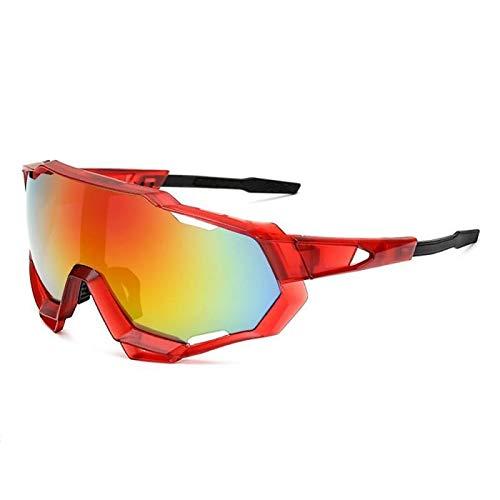 Gafas Moto,Moto Gafas PRUEBA Profesional Polarizado Gafas de ciclismo Gafas de bicicletas Gafas de sol deportivas al aire libre Gafas Motocross (Color : 3)