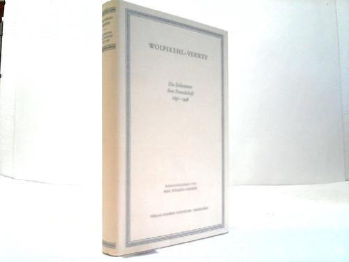 Wolfskehl und Verwey: Die Dokumente ihrer Freundschaft. 1897-1946 (Veröffentlichung der Deutschen Akademie für Sprache und Dichtung)