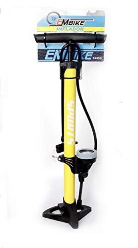 Bike EM Bomba Inflador de Deportes con Manómetro Profesional para Bicicletas y...