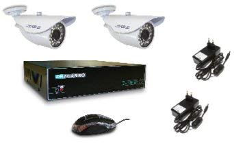 918237-Fracarro Kit Telecamere Registratore Dvr Ahd con Hard Disk da 1 terabite con 2 modelli di Telecamere Ahd 720p per videosorveglianza