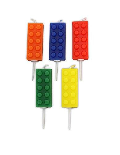Creative Party AHC202 Bloques de construcción Pick Candles, 5 PC