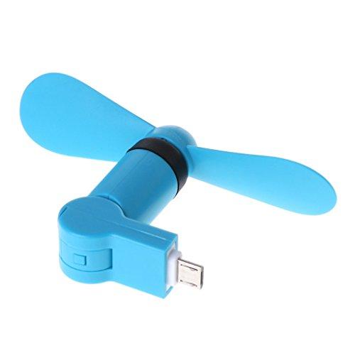 Yiwann ventilador portátil, 180˚ giratorio Micro USB ventilador de refrigeración para Samsung Xiaomi Huawei Android teléfono regalo