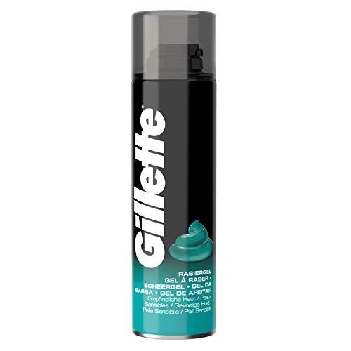 Gillette Clasico, Gel de Afeitar para Pieles Sensibles - 20 cl