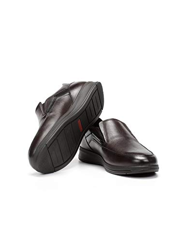 Fluchos   Mocasín de Hombre   Orson F0910 Coral Castaño Zapato Confort   Mocasín de Piel de Vacuno Impermeable - Fluchos Tex   Cierre con Elásticos   Piso PU