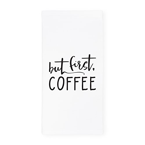 The Cotton & Canvas Co. But First, Coffee Soft and Absorbent Kitchen Tea Towel, Flour Sack Towel, Dish Cloth, 1-Count