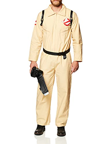 Rubies Costume Co Men's Ghostbusters Costume with Inflatable Backpack, Tan, Adult Standard