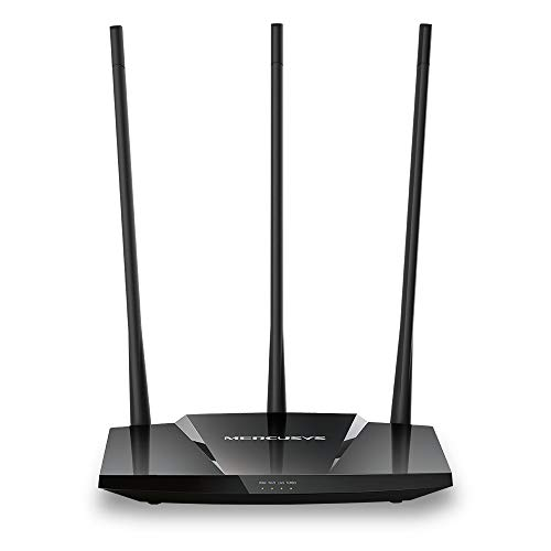 TP-Link Mercusys MW330HP, Router Inalámbrico N Wi-Fi de Alta Potencia de 300Mbps, 1 x 10, 100M WAN 3 x 10, 100M LAN, 3 x Antenas Fijas, Color Negro