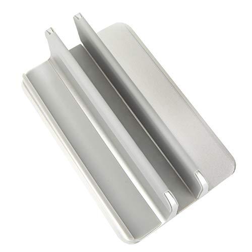 JVSISM - Soporte vertical para portátil (aluminio, con base ajustable, compatible con MacBook/Surface///Gaming Laptops (hasta 17,3 pulgadas)