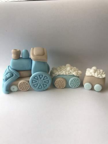 Eetbare taartdecoratie trein voor verjaardag, doop, babyparty