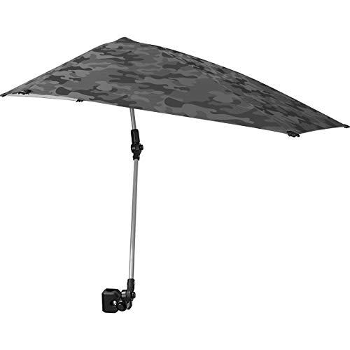 Sport-Brella Versa-Brella Regenschirm, LSF 50+, verstellbar, mit Universal-Klemme, regulär, grau camo
