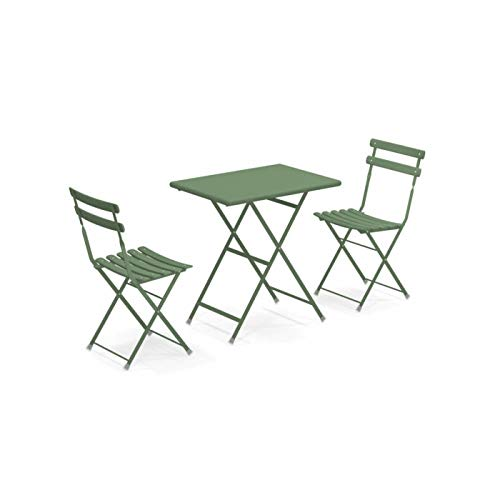 EMU Set da Esterno Arc En Ciel Tavolo 70x50cm + 2 Sedie Giardino arredo Bar