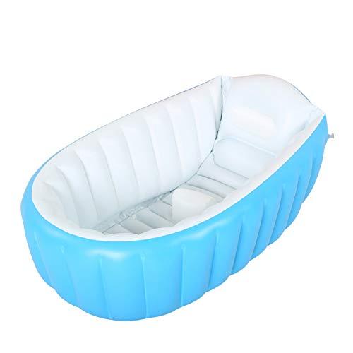 Hieefi Baby Pool Baby Inflatable Bathtub Capacidad De Gran Capacidad Piscina Plástica Piscina Ducha Plegable Cuenca para Niños Pequeños (Azul)