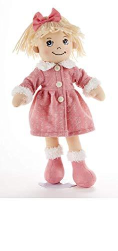 Apple Dumplin Blonde Doll, Pink Math Motif Fur Trimmed Coat, Boots