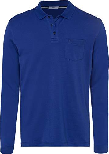 BRAX Herren Style Philip Pima Cotton Interlock Polo Casual Langarmshirt, ROYAL, Large (Herstellergröße: L)
