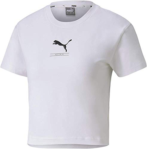 PUMA Nu-Tility Fitted tee Camiseta, Mujer, White, S
