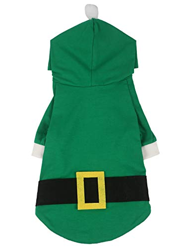 Coomour Christmas Hoodies Pet Elf Costume Clothes Cat Puppy Cute Xmas Shirts for Dogs Cats Merry Christmas Outfits (Medium)