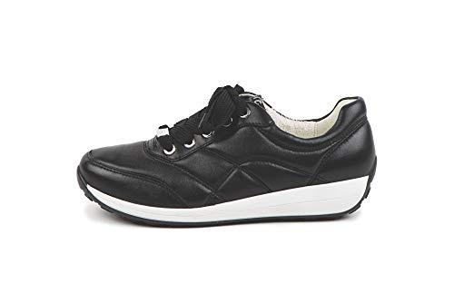 ara Damen OSAKA Sneaker, Schwarz 01), 36.5 EU