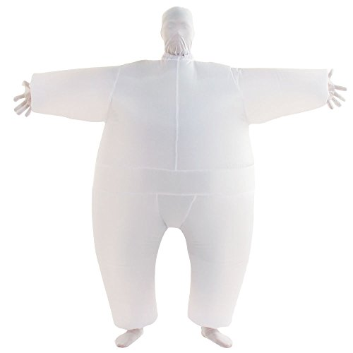 VOCOO Lnflatable Costumes Adult Size Inflatable Body Suits, White, Size 14.0