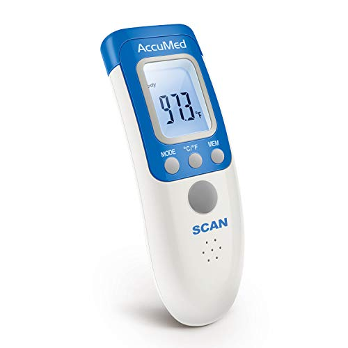 AccuMed AT2102 Non-Contact, Instant-Read Handheld Infrared Medical Thermometer - 7-in-1 Functionality, Non-invasive, Professional Accuracy for Home Medical Use