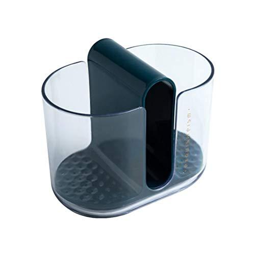 Leikar Soporte para utensilios de cocina, palillos de cubiertos, cuchara, tenedor, escurridor, estante de almacenamiento para limpieza de mesa de cocina, fregadero de encimera