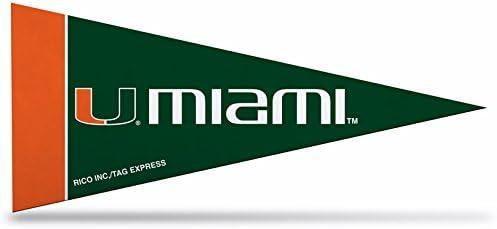 NCAA Miami Hurricanes 4-Inch by DàLong-awaited Finally resale start Classic Pennant 9-Inch Mini