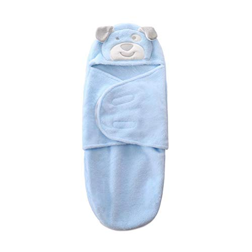 Wildtrest Dual-Layer Baby Flannel Wrap Swaddle Blanket Breathable Infant Sleeping Bag Receiving Blankets