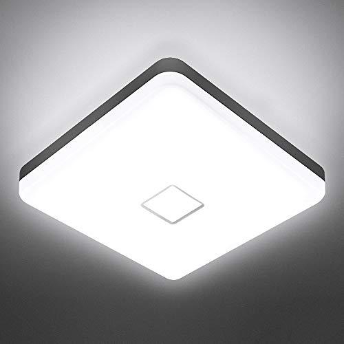 NOWES LED Deckenleuchten 24W 5000K 2100lm Deckenlampe, IP54 Wasserdichte Badlampe, CRI 90+ Feuchtraumleuchte Ideal für Badezimmer, Wohnzimmer, Schlafzimmer, Küche, Flur (Kaltweiß)