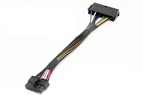 """AYA 8"""" (8-Inch) ATX 24-Pin to 14-Pin Power Supply Cable Adapter 18AWG for Lenovo IBM"""