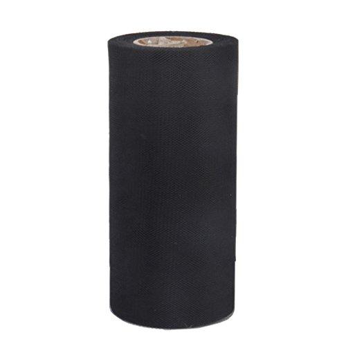【ノーブランド品】結婚式 装飾 チュール 生地 ロール スーパーソフトチュール 15cm×22m ブラック