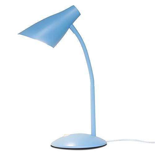 YU-K Les lampes de bureau Led eye 24 quarts lampe de bureau pliable plug-in d'oeil E27 ampoule lampe,1,6 * 10.5 * 41cm, bleu