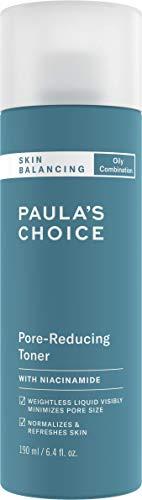 Paula's Choice Skin Balancing Gesichtswasser - Toner Mattiert Fettige Haut & Verkleinert die Poren - Bekämpft Unreine Haut & Mitesser - mit Niacinamid - Mischhaut bis Fettige Haut - 190 ml