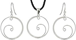 Argento orecchino/pendente rotondo design disponibile in Set di Londra Shalalla