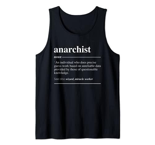 Definición anarquista Funny Sustantivo Camiseta sin Mangas