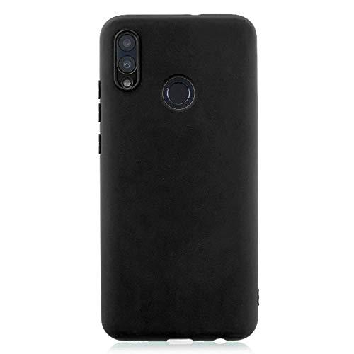 cuzz Funda para Huawei P Smart 2019+{Protector de Pantalla de Vidrio Templado} Carcasa Silicona Suave Gel Rasguño y Resistente Teléfono Móvil Cover-Negro